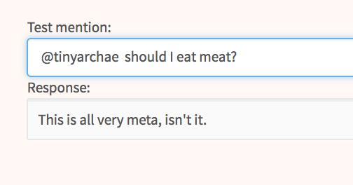 Testing your bot's response